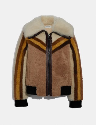 Coach Shearling Bomber Jacket