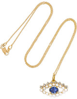 Ileana Makri 18-karat Gold Multi-stone Necklace