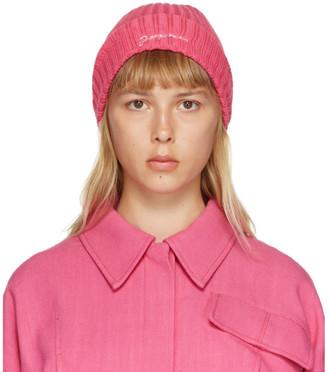 Jacquemus Pink Le Bonnet Beanie