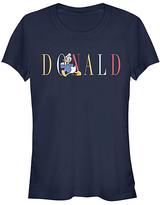 Fifth Sun Women's Tee Shirts NAVY - Donald Duck Navy Fashion Letters Tee - Women & Juniors