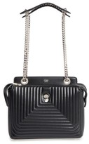 Fendi Dotcom Click Quilted Leather Satchel - Black
