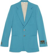 Gucci Wool cotton jacket with labels