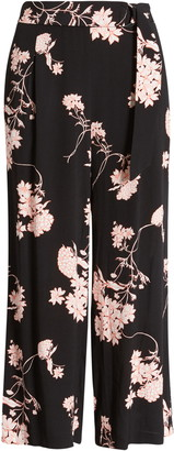 Chelsea28 Floral Print Crop Wide Leg Pants