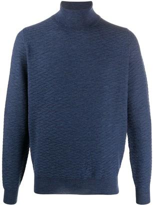 Canali Rib-Trimmed Wool Jumper