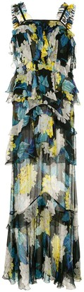 Alice McCall Wild Gown floral-print tiered chiffon maxi dress