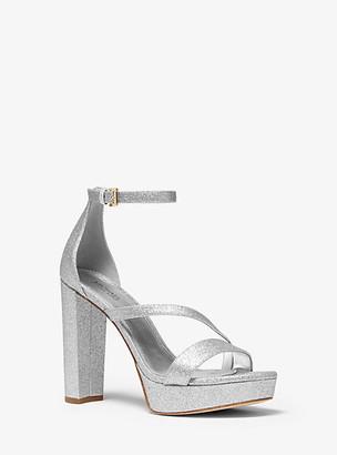 Michael Kors Tanner Glitter Platform Sandal