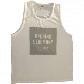 Opening Ceremony White Polyester Tops