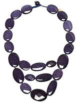 MAINLINE Orient Haze Bib Blue Sandstone Necklace of Length 28cm