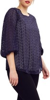 Studio 8 Kyra Broderie Top, Navy