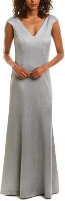 St. John Wool-Blend Gown