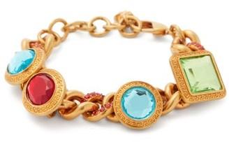 Versace Crystal-embellished Curb Chain Bracelet - Multi