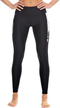 Body Glove Women's Leggings BLACK - Black & White Palm Aloha Leggings - Women