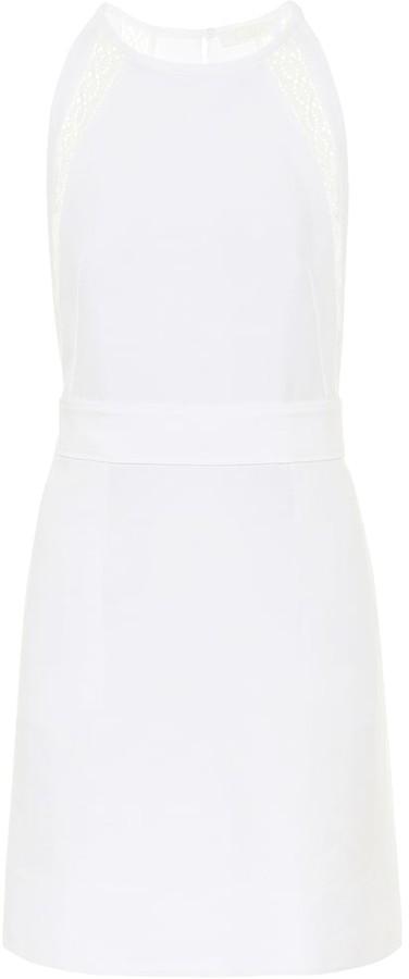 Chloé Lace-trimmed linen and cotton minidress