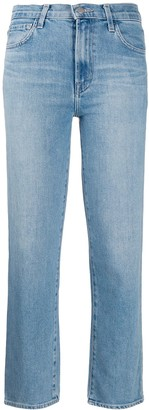 J Brand faded cropped jeans