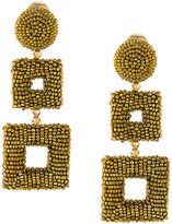 Oscar de la Renta square drop earrings