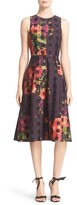 Ted Baker 'Anaa - Juxtapose Rose' Sleeveless Fit & Flare Midi Dress