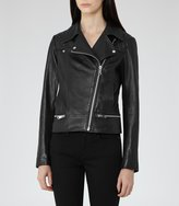 Reiss Frith Quilted Leather Biker Jacket