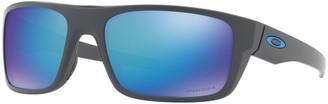 Oakley Drop Point OO9367 60mm Rectangle Sapphire Iridium PRIZM Polarized Sunglasses