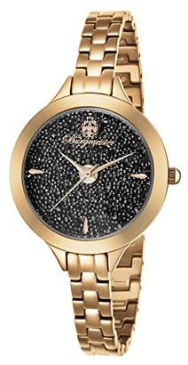 Burgmeister Women's Quartz Watch with Black Dial Analogue Display and Rose Gold Stainless Steel Bracelet BM536-398