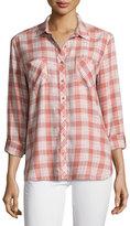 Soft Joie Lilya Plaid Button-Down Shirt, Rose