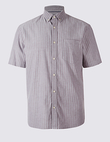 M&s Collection Pure Cotton Oxford Shirt With Pocket