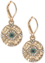 lonna & lilly Gold-Tone Evil-Eye Crystal Drop Earrings