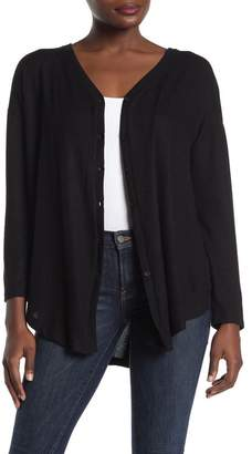 Gibson Button Front Long Sleeve Pullover
