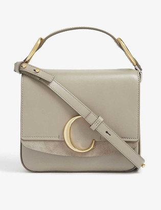 Chloé C small square leather shoulder bag
