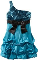 Ruby Rox Kids Girls 7-16 One-Shoulder Glitter Pick-up