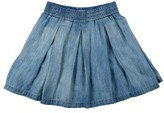 Tractr Girl's Pleated Chambray Skirt