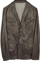 Forzieri Leather Blazer Jacket