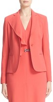 Max Mara Women's Dardano Wool Crepe Jacket With Removable Ruffle