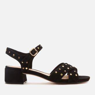 Clarks Women's Sheer35 Strap Suede Block Heeled Sandals