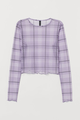 H&M Cropped Mesh Top