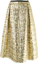 Odeeh metallic pleated skirt - women - Silk/Cotton/Polyester - 36