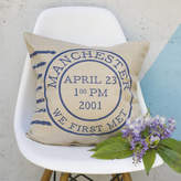 Oakdene Designs Personalised Postage Stamp Cushion