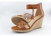 Ann Marino Womens Cora Open Toe Casual Platform Sandals, Tan, Size 8.5.