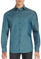 Perry Ellis Point Collar Cotton Shirt