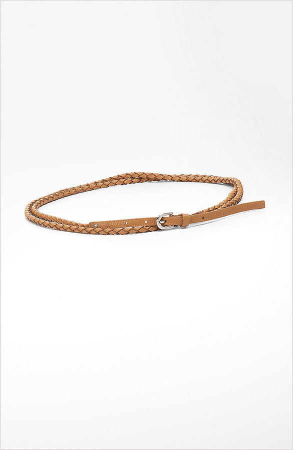 J. Jill Woven leather double-wrap belt