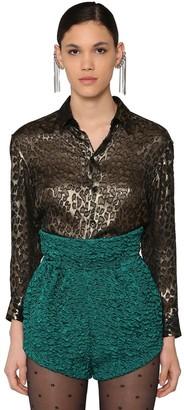Saint Laurent Classic Leopard Satinette Shirt