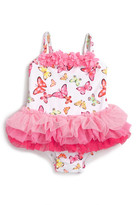 Little Me Butterfly One-Piece Tutu Swimsuit (Baby Girls)