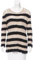 Chanel Striped Cashmere & Alpaca-Blend Sweater