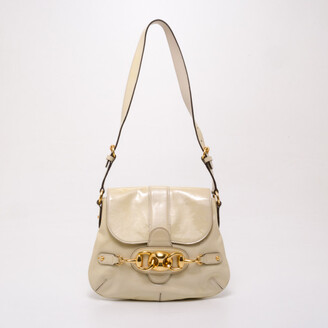 Gucci Ivory Patent Wave Small Shoulder Bag