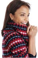 Joe Fresh Women's Knit Jacquard Sweater, Black (Size M)