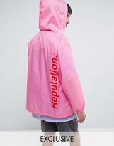 Reclaimed Vintage Inspired Retro Lightweight Jacket In Neon Pink