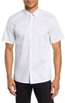 Theory Marray Micro Dot Short Sleeve Shirt