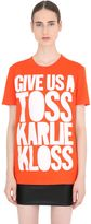 House of Holland Karlie Kloss Cotton Jersey T-Shirt