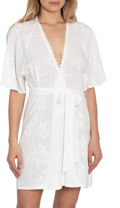 Jonquil Free as a Bird Embroidered Short Robe