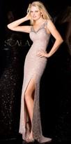 Scala Diamond Back High Slit Dress