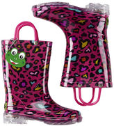 Carter's Western Chief Cutie Leopard Light Up Rain Boots